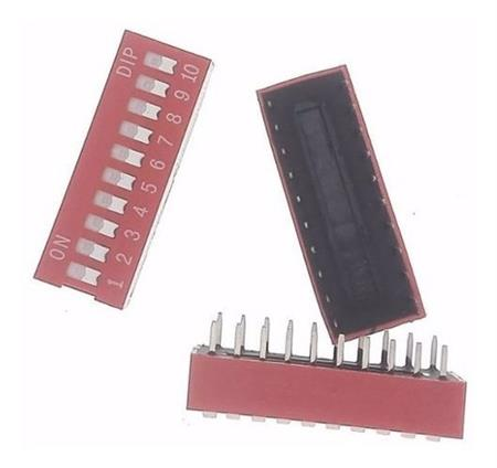 Dip Switch 10 Posiciones Interruptores Arduino