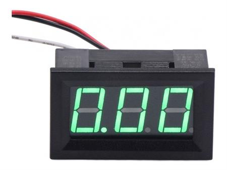 Voltimetro De Panel 3 Digitos 0 - 99.9v Display Verde