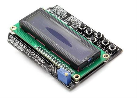 Arduino Shield Lcd 16x2 Backlight Azul Con 6 Teclas