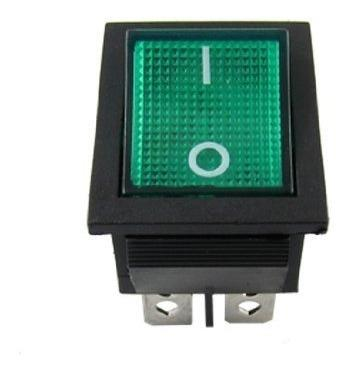 Boton Interruptor 30a 220v Verde 4pin Dpst On/off