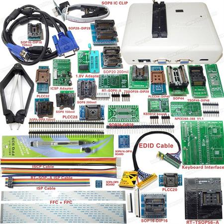 Programador Rt809h Nand Flash + 31 Adaptadores + Cable Emmc