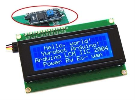 Display Lcd 2004 Backlight Azul 20x4 + Serie I2c Arduino