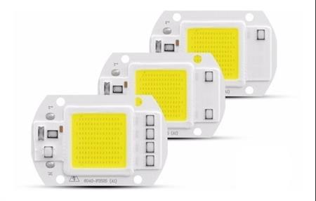 Led Chip Cob 50w Alta Potencia Direct/220v Blanco Frio 6500k
