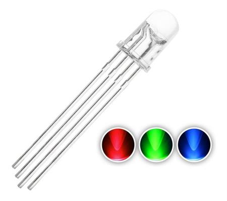 Led Rgb 5mm Catodo Comun 4 Patas Alto Brillo