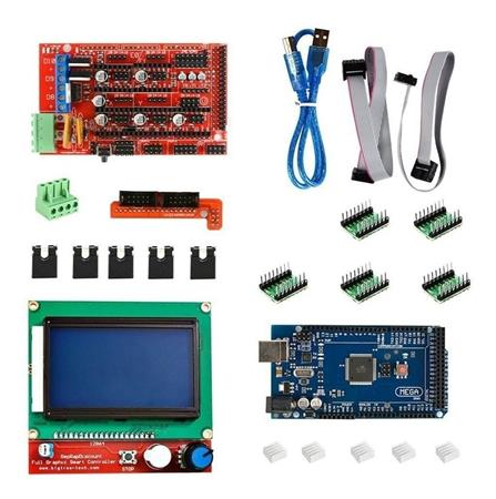 Kit 3d Arduino 2560 + Display 128x64 + Ramps + Pololu X4
